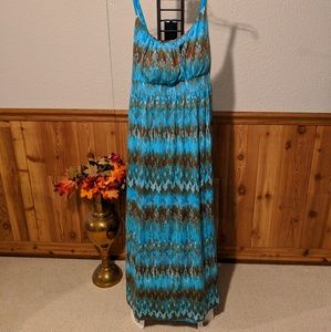 Blue & Brown Sundress